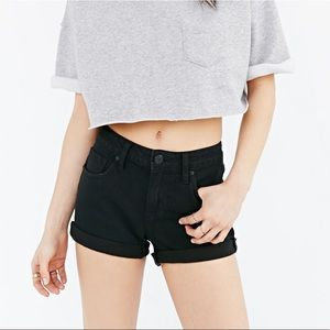 Urban Outfitters BD Shortie Shorts - Black